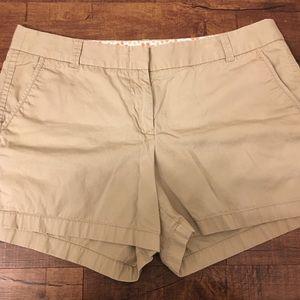 "💎 JCrew Chino 4"" Shorts Beige 14💎"